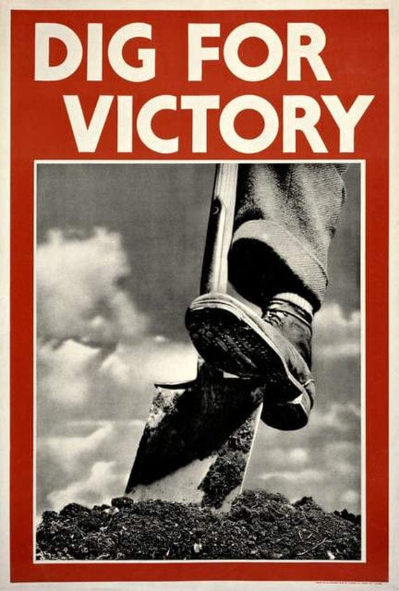 dig for victory affiche propagande